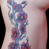 Cherry Blossom Rib Tattoo | Joel David McClure | Tough Love Studio