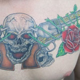 Custom Guns & Roses Chest Tattoo | Joel David McClure | Tough Love Studio