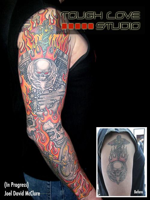 Bloomington Harley Davidson >> Joel David McClure - Tattoos | Tough Love Studio