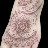 Henna Style Foot Tattoo | Joel David McClure | Tough Love Studio